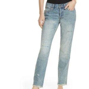 Free People 28 Skinny Distressed Frayed Jeans 3Y72